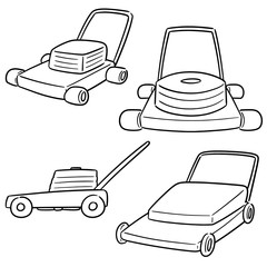vector  set of mower