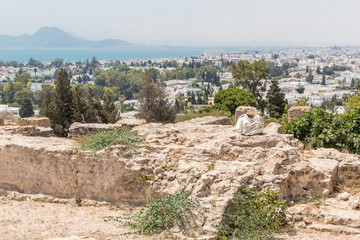 The Carthage, great city of antiquity on the north coast of Tunisia, Africa