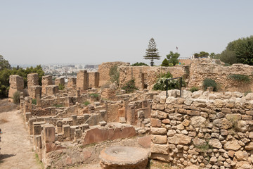The archaeological site of Ancient Carthage, Tunisia, Africa