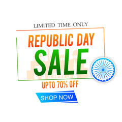 Republic day concept with text 26 January - Vector