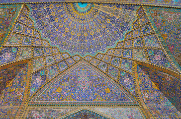 The semi-dome of Seyed Mosque, Isfahan, Iran