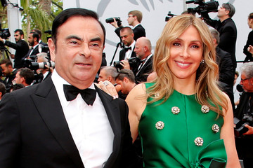 Carlos Ghosn, Chairman and CEO of the Renault-Nissan Alliance, and his wife Carole pose during the 70th Cannes Film Festival