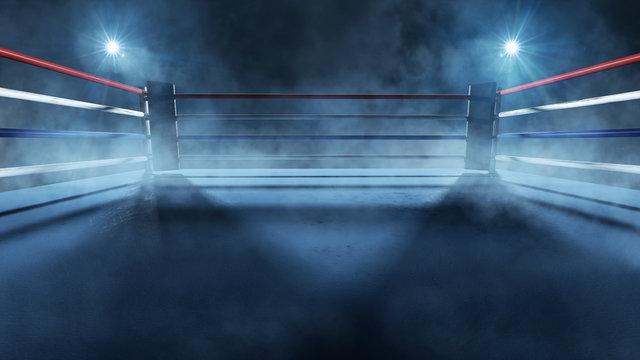 Boxring im Scheinwerferlicht
