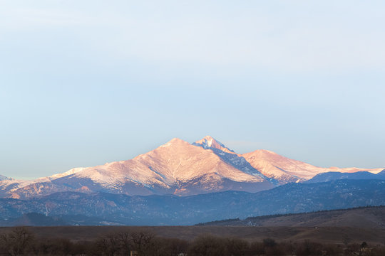 A Beautiful Landscape with Mount Meeker and Longs Peak on the Front Range of Colorado