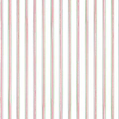 Classic stripes in pink and green with a contemporary painterly twist on neutral white background. Seamless vector pattern. Perfect for stationery, textiles, home decor, giftwrapping and packaging.