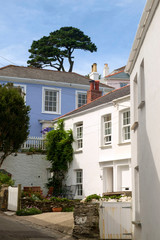 A pretty corner in St Mawes, Roseland Peninsula, Cornwall, UK
