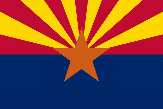 Arizona State Flag Vector