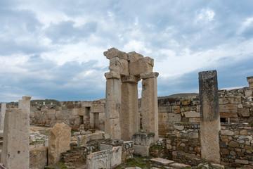 Ancient Tripolis Site in the Yenicekent prefecture of Buldan District of Denizli province of Turkey.