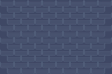 Seamless, abstract background pattern made with repeated thin lines in blue color. Decorative and modern vector art.