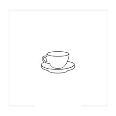 Coffee cup line icon