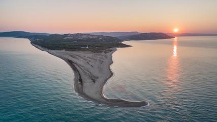 sunrise in Possidi Cape beach, Greece