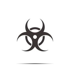Biohazard icon. Vector illustration