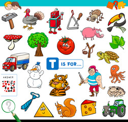 T is for educational game for children