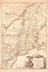 1777, Brion de La Tour Map of New York and New England, Revolutionary War