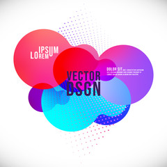Abstract liquid color geometric shapes. Fluid colorful gradient background