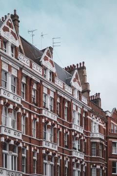 Row of houses in Chelsea London