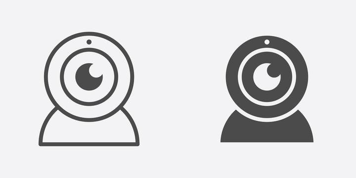 Webcam vector icon sign symbol