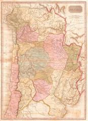 1818, Pinkerton Map of of La Plata, Southern South America, Argentina, Chile, Bolivia, John Pinkerton, 1758 – 1826, Scottish antiquarian, cartographer, UK