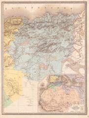 1857, Dufour Map of Constantine, Algeria