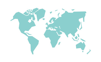 Simplified world map. Stylized vector illustration Fotomurales