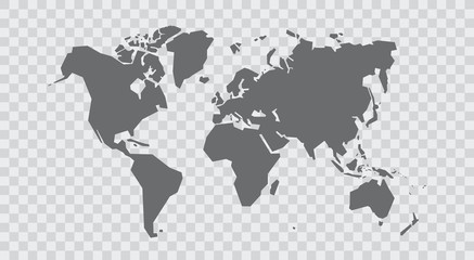 Simplified world map. Stylized vector illustration Wall mural