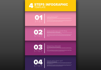 4 Steps Infographic Layout