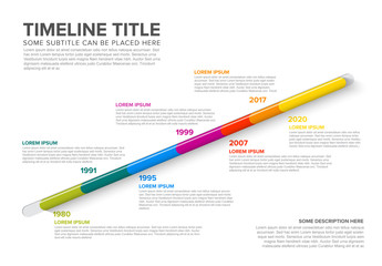 Colorful Timeline Infographic Layout