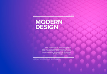 Abstract Flyer Layout with Colorful Gradient