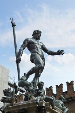 Neptune fountain in Bologna, Italy