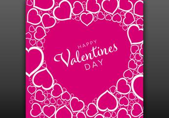 Valentine's Day Card Layout
