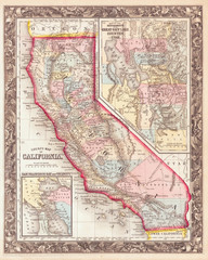 1860, Mitchell's Map of California