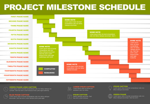 Project Milestone Schedule Infographic Layout