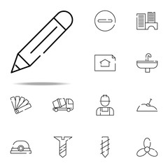 pencil icon. construction icons universal set for web and mobile