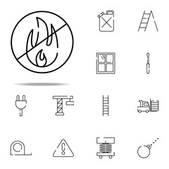 sign explosive icon. construction icons universal set for web and mobile