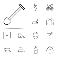 shovel icon. construction icons universal set for web and mobile