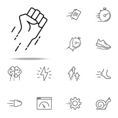 flying fist icon. Speed icons universal set for web and mobile