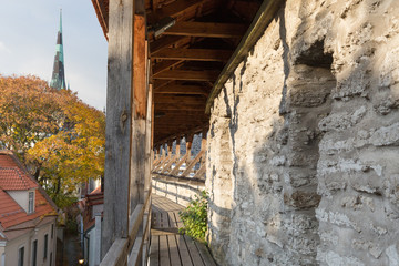 Europe, Eastern Europe, Baltic States, Estonia, Tallinn. Old town, along the city walls.