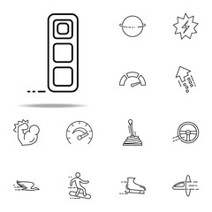 brick icon. Speed icons universal set for web and mobile