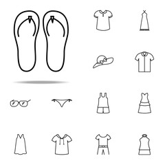 flip-flops icon. Summer Clothes icons universal set for web and mobile