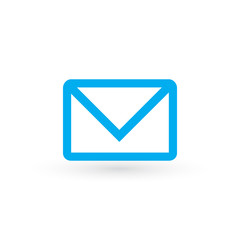 Envelope Icon in trendy flat style isolated on white background. Mail symbol for your web site design, logo, app, UI.