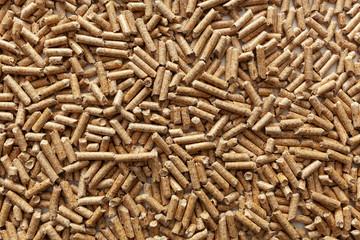 Wood pellet background