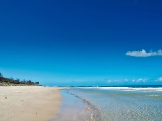 Woorim Beach In Bribie Island, Queensland, Australia