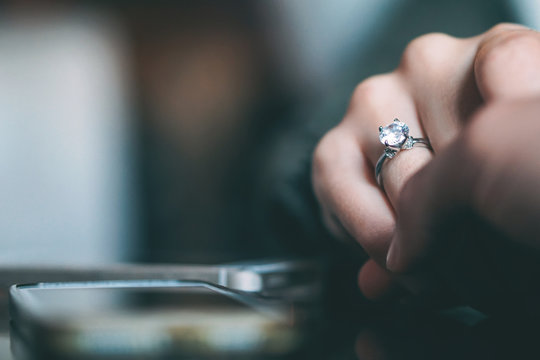 Man marriage proposal - Boyfriend proposing to his girlfriend to get married - Concept of people relationship, ring present and love