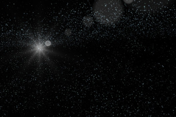 Stars and galaxy outer space sky night universe background 3d rendering