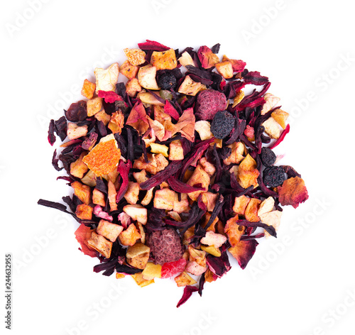 Fruit Tea With Hibiscus Apple Raspberry Rose Petals And Dog Rose