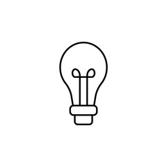 electricity, light bulb icon. Element of electricity for mobile concept and web apps illustration