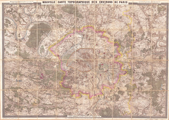 Clerot Pocket Map of Paris and Environs, France