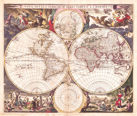 1685, Bormeester Map of the World