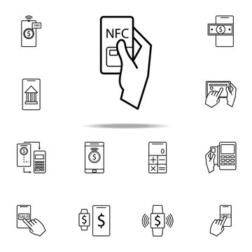 NFS Mobile Banking icon. Mobile banking icons universal set for web and mobile