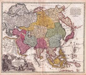 1730, C. Homann Map of Asia